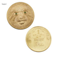 BIRTHDAY GIFTS PRIZE COIN  ANIMALS 24K GOLD PLATED METAL COIN METAL CRAFTS