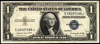 1935G SERIES NO MOTTO $1 SILVER CERTIFICATE   DJ BLOCK   UNCIRCULATED   FR. 1616