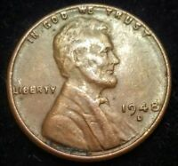 1948 D LINCOLN WHEAT CENT FINE DETAILS ERROR OBVERSE