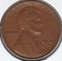 1940-D WHEAT CENT-EF