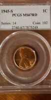 1945-S  PCGS MINT STATE 67 RD