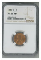 1946-D 1C RD LINCOLN CENT
