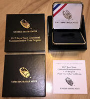 2017 BOYS TOWN COMMEMORATIVE PROOF FIVE DOLLAR OGP BOX AND COA  NO COIN