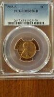 1935-S  PCGS MINT STATE 65 RD