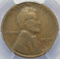 1924 D LINCOLN WHEAT CENT PCGS F12 - BETTER DATE DOUBLEJCOINS 123-03