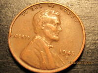 1945 S LINCOLN WHEAT CENT   SOLID ALBUM FILLER COIN