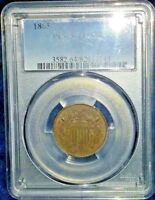 1865 PCGS MINT STATE 64BN TWO CENT W1570LLC