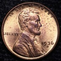 BU 1936-D LINCOLN WHEAT CENT PENNY                   R4AE
