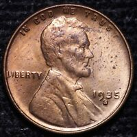 BU 1935-S LINCOLN WHEAT CENT PENNY                   R4AE