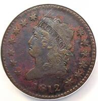 1812 CLASSIC LIBERTY HEAD LARGE CENT 1C S-288 LARGE DATE - NGC EXTRA FINE  -  KEY