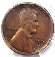 1914-D LINCOLN WHEAT CENT 1C - PCGS EXTRA FINE  DETAILS EF -  KEY DATE PENNY