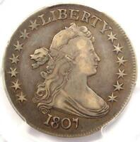 1807 DRAPED BUST HALF DOLLAR 50C O-103 - PCGS VF DETAILS -  CERTIFIED COIN
