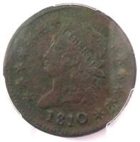1810/09 CLASSIC LIBERTY LARGE CENT COIN 1C - CERTIFIED PCGS EXTRA FINE  DETAILS EF