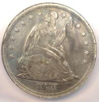 1871 SEATED LIBERTY SILVER DOLLAR $1 - NGC EXTRA FINE  DETAILS -  CERTIFIED COIN