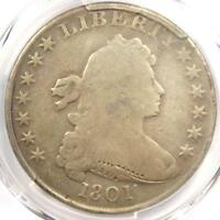 1801 DRAPED BUST SILVER DOLLAR $1 BB-214 - PCGS VG DETAILS -  COIN