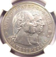 1900 LAFAYETTE SILVER DOLLAR $1 - NGC UNCIRCULATED DETAILS -  MS UNC COIN