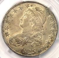 1825 CAPPED BUST HALF DOLLAR 50C O-101 - PCGS AU DETAILS -  CERTIFIED COIN