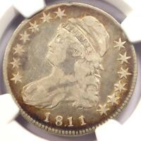 1811/10 CAPPED BUST HALF DOLLAR 50C COIN - CERTIFIED NGC F15 -  OVERDATE