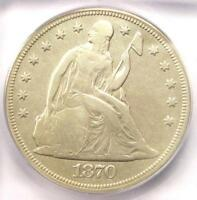 1870-CC SEATED LIBERTY DOLLAR $1 - ICG F12 DETAILS -  CARSON CITY COIN