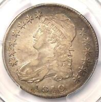 1810 CAPPED BUST HALF DOLLAR 50C - PCGS EXTRA FINE  DETAILS EF -  LUSTER