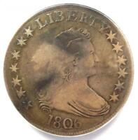 1806 DRAPED BUST HALF DOLLAR 50C - ANACS VG8 -  CERTIFIED COIN