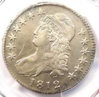 1812 CAPPED BUST HALF DOLLAR 50C - PCGS EXTRA FINE  DETAILS EF -  CERTIFIED COIN