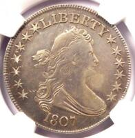 1807 DRAPED BUST HALF DOLLAR 50C COIN - CERTIFIED NGC VF DETAILS -  COIN