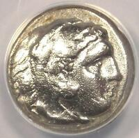 ALEXANDER THE GREAT III AR DRACHM COIN 323-317 BC - CERTIFIED ANACS VF30