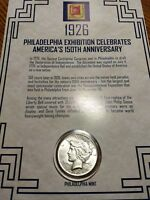 FIRST COMMEMORATIVE 1926 PEACE SILVER DOLLAR & STAMP FACT SHEET