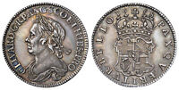 GT BRIT.  1658 AR HALFCROWN. NGC AU58. OLIVER CROMWELL SCBC 3227A NORTH 2746