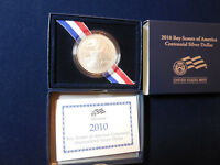 2010 BOY SCOUTS UNC SILVER DOLLAR WITH BOX AND COA   BL4