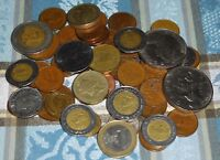 BULK LOT OF 51 FOREIGN/WORLD COINS   10 COUNTRIES   FEW DUPLICATES   CIRCULATED