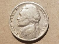 1944 HENNING NO P NICKEL NON SILVER WAR 5 CENTS NO MINT MARK COIN LOOPED R NICE