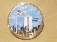 2001 AMERICAN SILVER EAGLE 9/11 FIREFIGHTERS AMERICA UNITES SEPTEMBER 11TH COIN