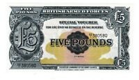 1958 GREAT BRITAIN BRITISH ARMED FORCES MPC 5 POUNDS P M23 CRISP UNCIRCULATED