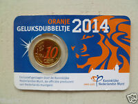 COINCARD 10 EURO CENT PAYS-BAS 2014 COLORISEE