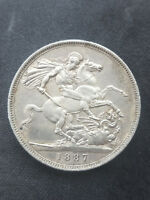 1887 QUEEN VICTORIA GREAT BRITAIN STERLING SILVER CROWN