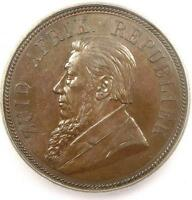 1892 SOUTH AFRICA ZAR PENNY KM 2   ICG MS62    BU MS CERTIFIED COIN