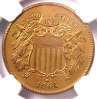 1864 TWO CENT PIECE 2C - NGC UNCIRCULATED DETAIL MS UNC -  CERTIFIED COIN
