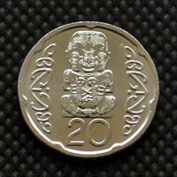NEW ZEALAND 20 CENTS 2006   09. KM118A. UNC. BUTTERFLIES. INSECTS. QUEENS.