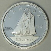 2012 CANADA SILVER PROOF 10 CENTS