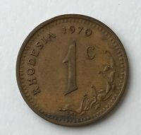 DATED : 1970   RHODESIA   ONE CENT   1C   COIN