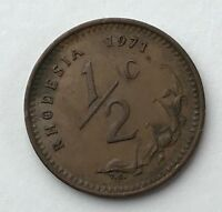 DATED : 1971   RHODESIA   HALF CENT   1/2C   COIN
