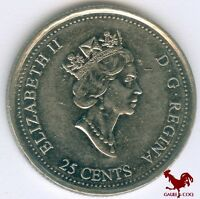 CANADA     2000  CANADIAN  25 CENT PIECE COIN
