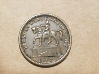 1863 FIRST IN WAR FIRST IN PEACE UNION FOREVER CIVIL WAR TOKEN RELIC F 174/272
