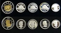 CANADA SILVER PROOF COIN COLLECTION