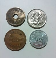 JAPAN DIFFERENT COINS SET 1   5   10   100 YEN