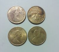 HONG KONG 10 CENTS X 4 LOT 1982 1983 & 1997