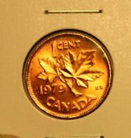 CANADA CENT::1979  BRIGHT RED DD: DOUBLE 7 & 9 ::ORIGINAL LUSTROUS RED  COPPER