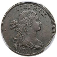 1797 DRAPED BUST LARGE CENT REVERSE OF 1797 STEMS S 126 R.3